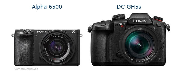 Sony alpha 6500 vs Panasonic dc gh5s