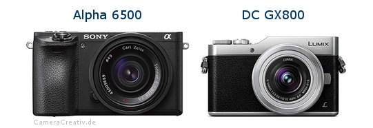 Sony alpha 6500 vs Panasonic dc gx 800