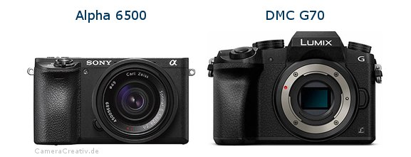 Sony alpha 6500 vs Panasonic dmc g 70