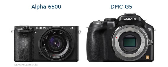 Sony alpha 6500 vs Panasonic dmc g5