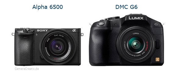 Sony alpha 6500 vs Panasonic dmc g6