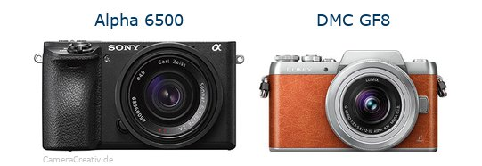 Sony alpha 6500 vs Panasonic dmc gf 8