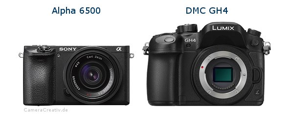 Sony alpha 6500 vs Panasonic dmc gh 4