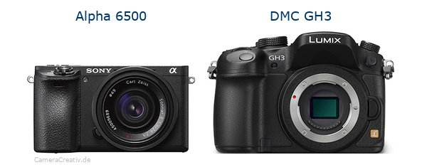 Sony alpha 6500 vs Panasonic dmc gh3