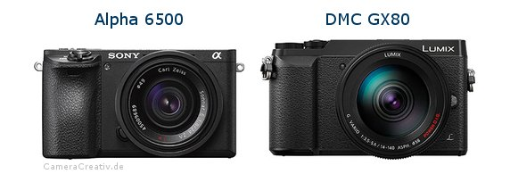 Sony alpha 6500 vs Panasonic dmc gx 80