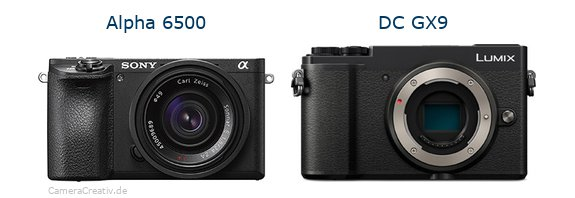 Sony alpha 6500 vs Panasonic lumix gx 9
