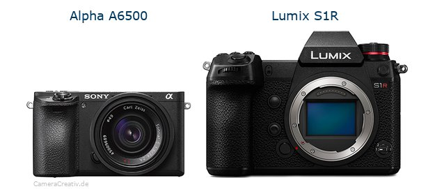 Sony alpha 6500 vs Panasonic lumix s1r