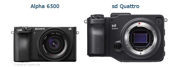 Sony alpha 6500 vs Sigma sd quattro