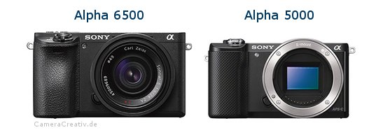 Sony alpha 6500 vs Sony alpha 5000
