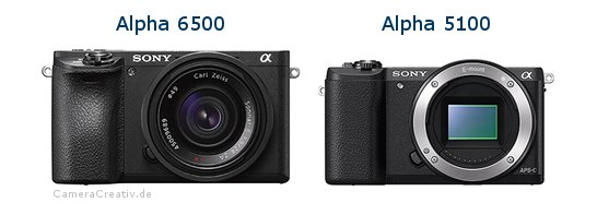 Sony alpha 6500 vs Sony alpha 5100