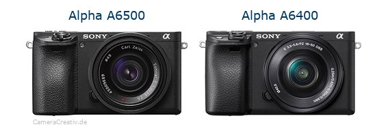 Sony alpha 6500 vs Sony alpha 6400