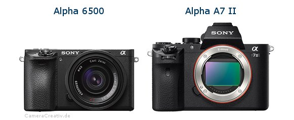 Sony alpha 6500 vs Sony alpha a7 ii