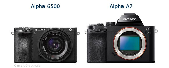Sony alpha 6500 vs Sony alpha a7