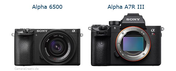 Sony alpha 6500 vs Sony alpha a7r iii