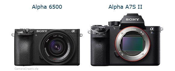 Sony alpha 6500 vs Sony alpha a7s ii