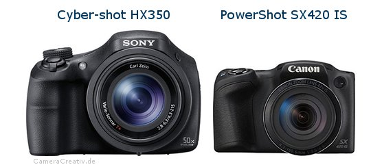 Sony cyber shot hx350 oder Canon powershot sx420 is
