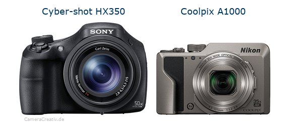 Sony cyber shot hx350 vs Nikon coolpix a1000