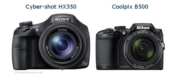 Sony cyber shot hx350 vs Nikon coolpix b500