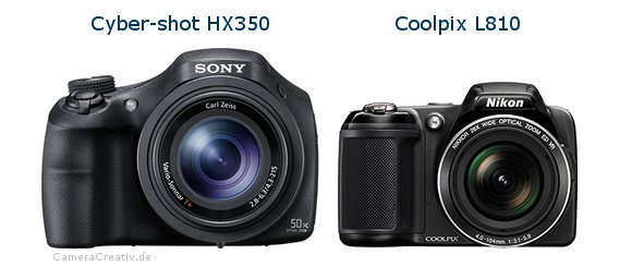 Sony cyber shot hx350 vs Nikon coolpix l810