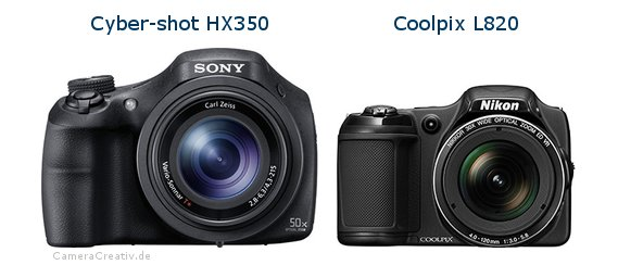Sony cyber shot hx350 vs Nikon coolpix l820