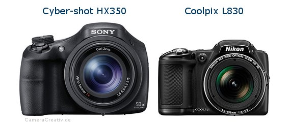 Sony cyber shot hx350 vs Nikon coolpix l830