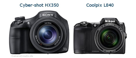 Sony cyber shot hx350 vs Nikon coolpix l840