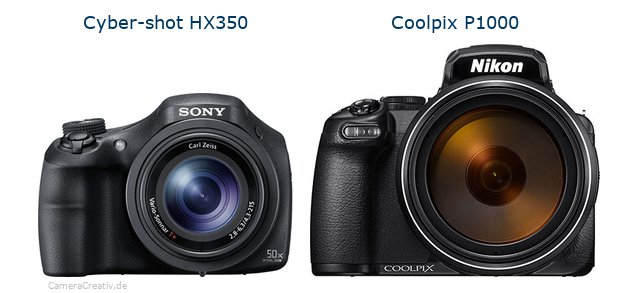 Sony cyber shot hx350 vs Nikon coolpix p1000