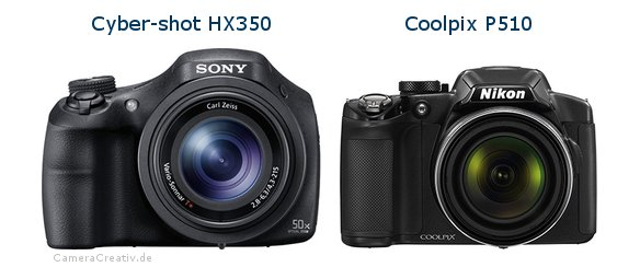 Sony cyber shot hx350 vs Nikon coolpix p510