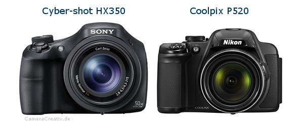 Sony cyber shot hx350 vs Nikon coolpix p520