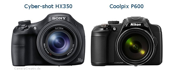 Sony cyber shot hx350 vs Nikon coolpix p600