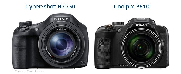 Sony cyber shot hx350 vs Nikon coolpix p610