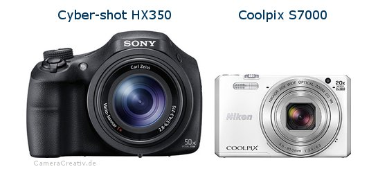 Sony cyber shot hx350 vs Nikon coolpix s7000