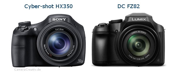 Sony cyber shot hx350 vs Panasonic dc fz 82