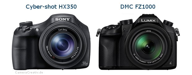 Sony cyber shot hx350 vs Panasonic dmc fz 1000