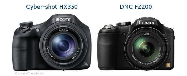 Sony cyber shot hx350 vs Panasonic dmc fz 200