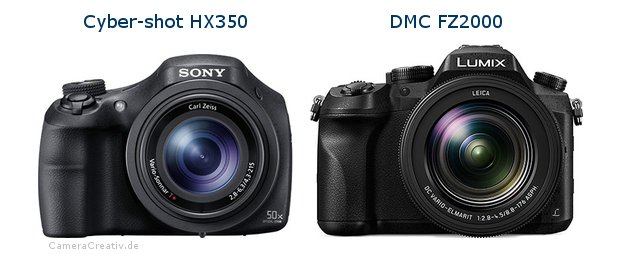 Sony cyber shot hx350 vs Panasonic dmc fz 2000