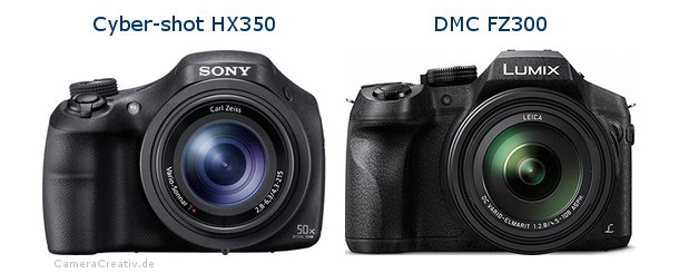 Sony cyber shot hx350 vs Panasonic dmc fz 300