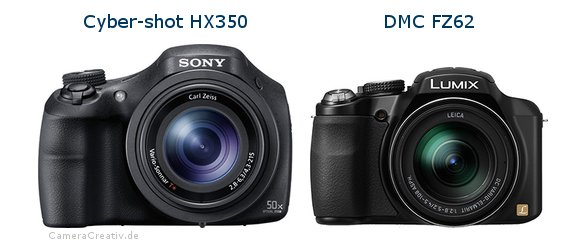 Sony cyber shot hx350 vs Panasonic dmc fz 62