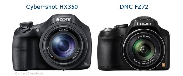 Sony cyber shot hx350 vs Panasonic dmc fz 72