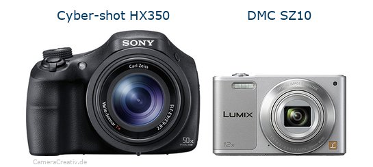 Sony cyber shot hx350 vs Panasonic dmc sz 10