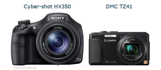 Sony cyber shot hx350 vs Panasonic dmc tz 41