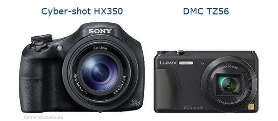 Sony cyber shot hx350 vs Panasonic dmc tz 56