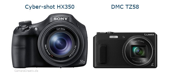 Sony cyber shot hx350 vs Panasonic dmc tz 58