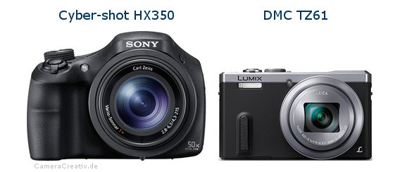 Sony cyber shot hx350 vs Panasonic dmc tz 61