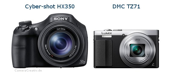 Sony cyber shot hx350 vs Panasonic dmc tz 71