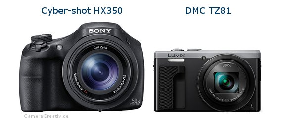 Sony cyber shot hx350 vs Panasonic dmc tz 81