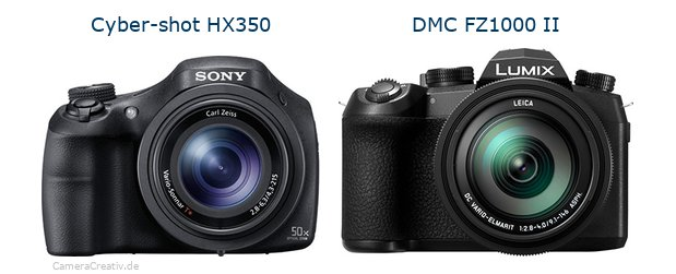 Sony cyber shot hx350 vs Panasonic lumix fz1000 ii