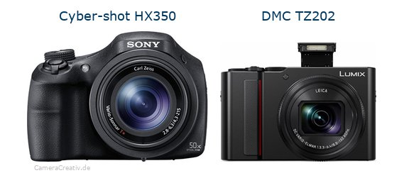 Sony cyber shot hx350 vs Panasonic lumix tz 202