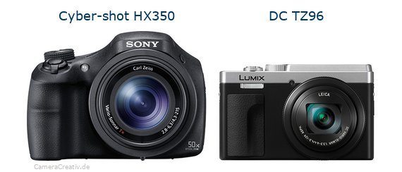 Sony cyber shot hx350 vs Panasonic lumix tz 96