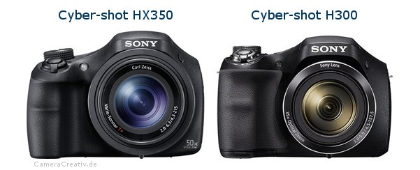 Sony cyber shot hx350 vs Sony cyber shot h300